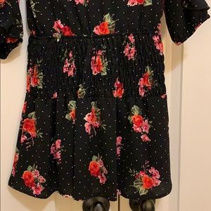 Truly Me Dresses - Girls Truly Me black floral dress